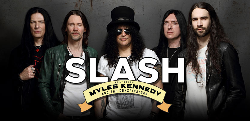 SLASH ft  MYLES KENNEDY & THE CONSPIRATORS – LIVING TO TOUR NEW