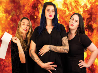 BEC SANDYS, BROOKE WEST & AUDREY PORNE ROLE MODELS. NZ International Comedy Festival